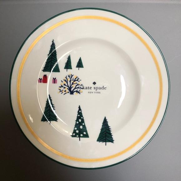 "kate spade Other - Kate Spade Lenox Christmas Arbor Village 9"" Plate"